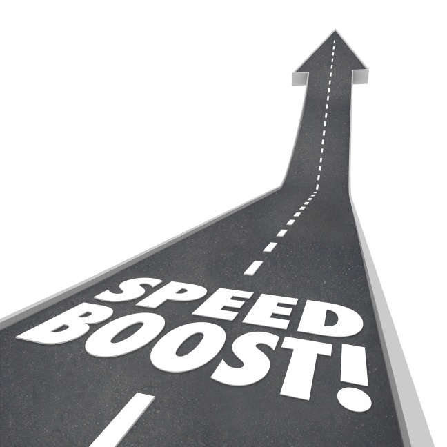 Speed Boost Words Road Increased Performance Fast Travel