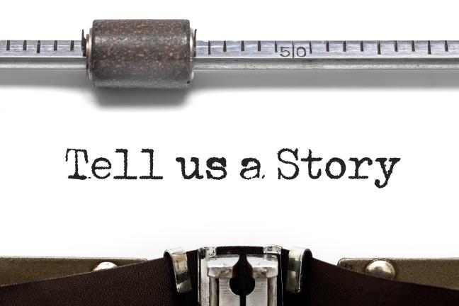 Tell us a Story Typewriter