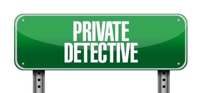 private detective road sign concept