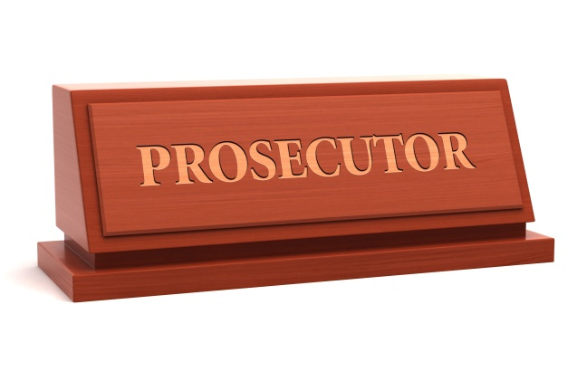 Prosecutor job title on nameplate