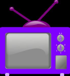 television-clker-purple-2