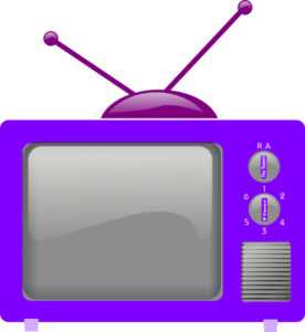 television-clker-purple-2