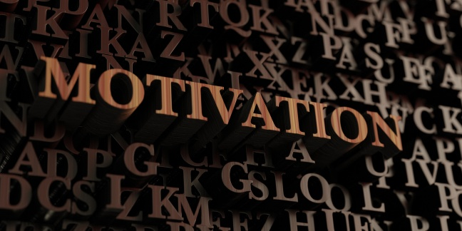 Motivation - Wooden 3d rendered letters/message