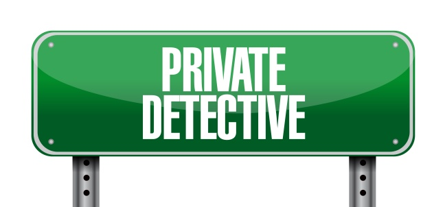 private detective road sign concept
