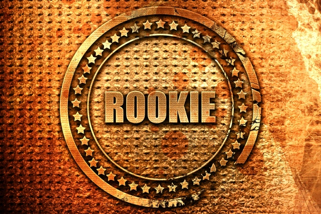 rookie, 3D rendering, metal text