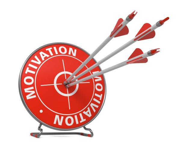Motivation Concept - Red Target.