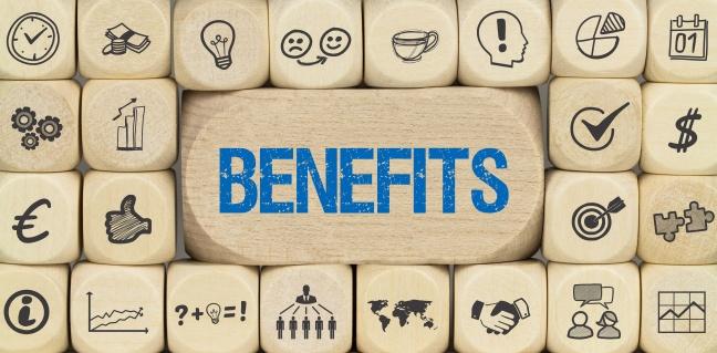 Benefits / Würfel mit Symbole