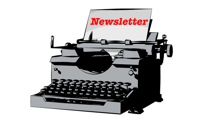 Newsletter with typewriter