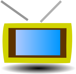 TV from clker yellow