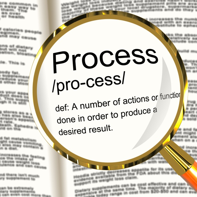 Process Definition Magnified Showing Result From Actions Or Functions