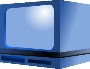 TV blue cartoon image