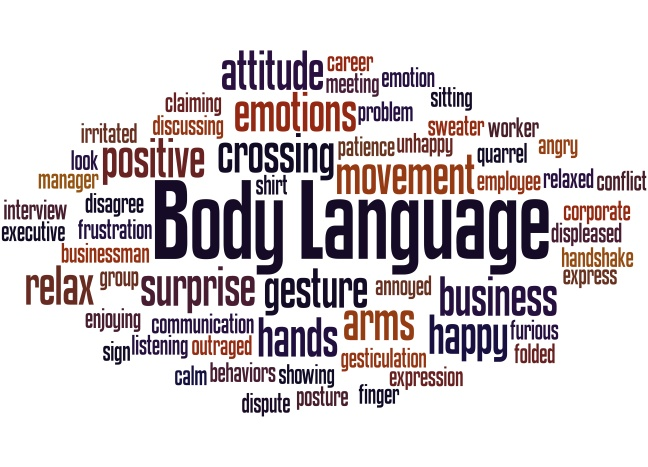 Body Language, word cloud concept 8