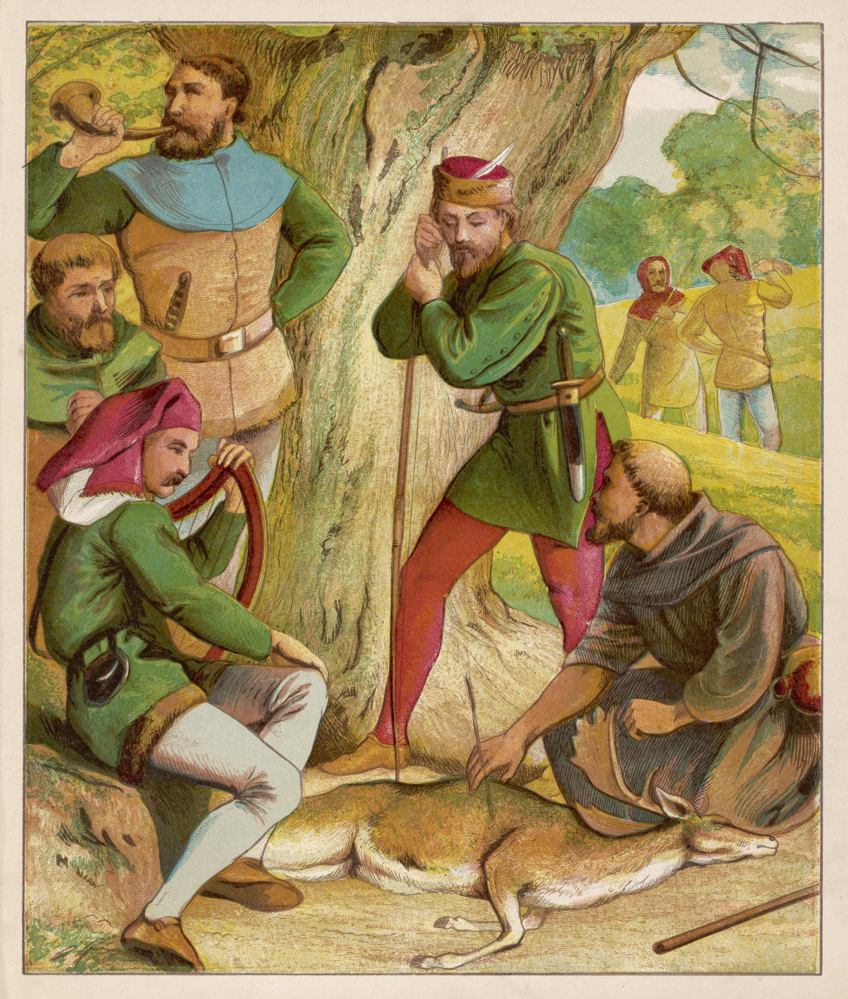 Robin Hood - Merry Men. Date: circa 1860