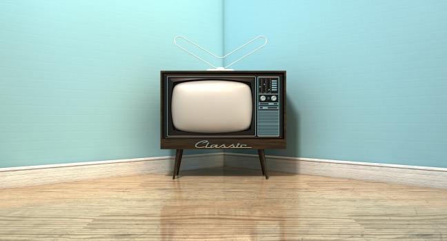 Old Classic Television In A Room