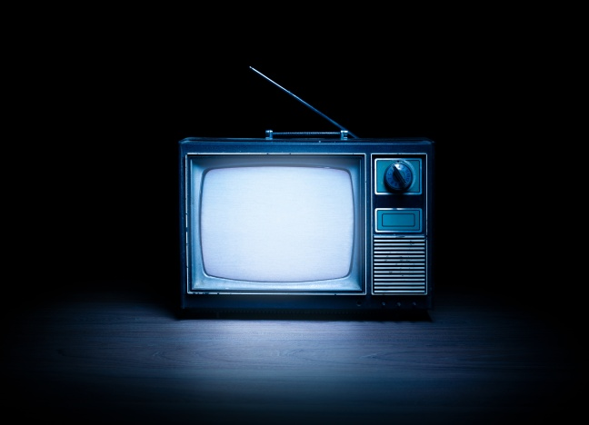 Retro television with white noise / high contrast image