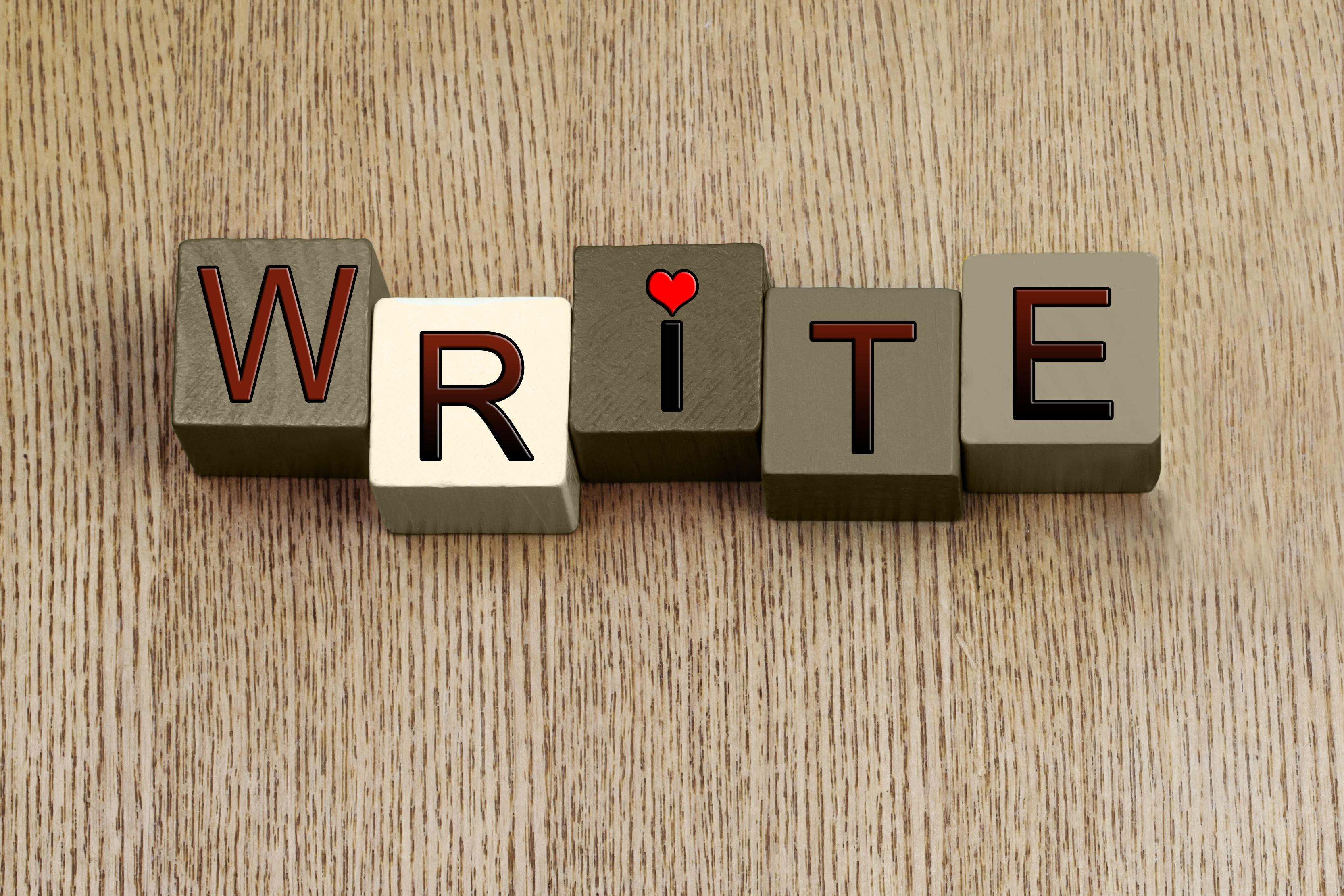 Write Sign, Love for Writing, for writers and authors.