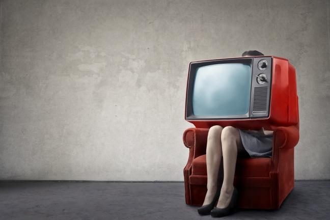 Huge tv set