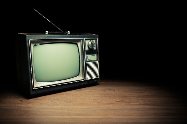 Retro television set/ high contrast image