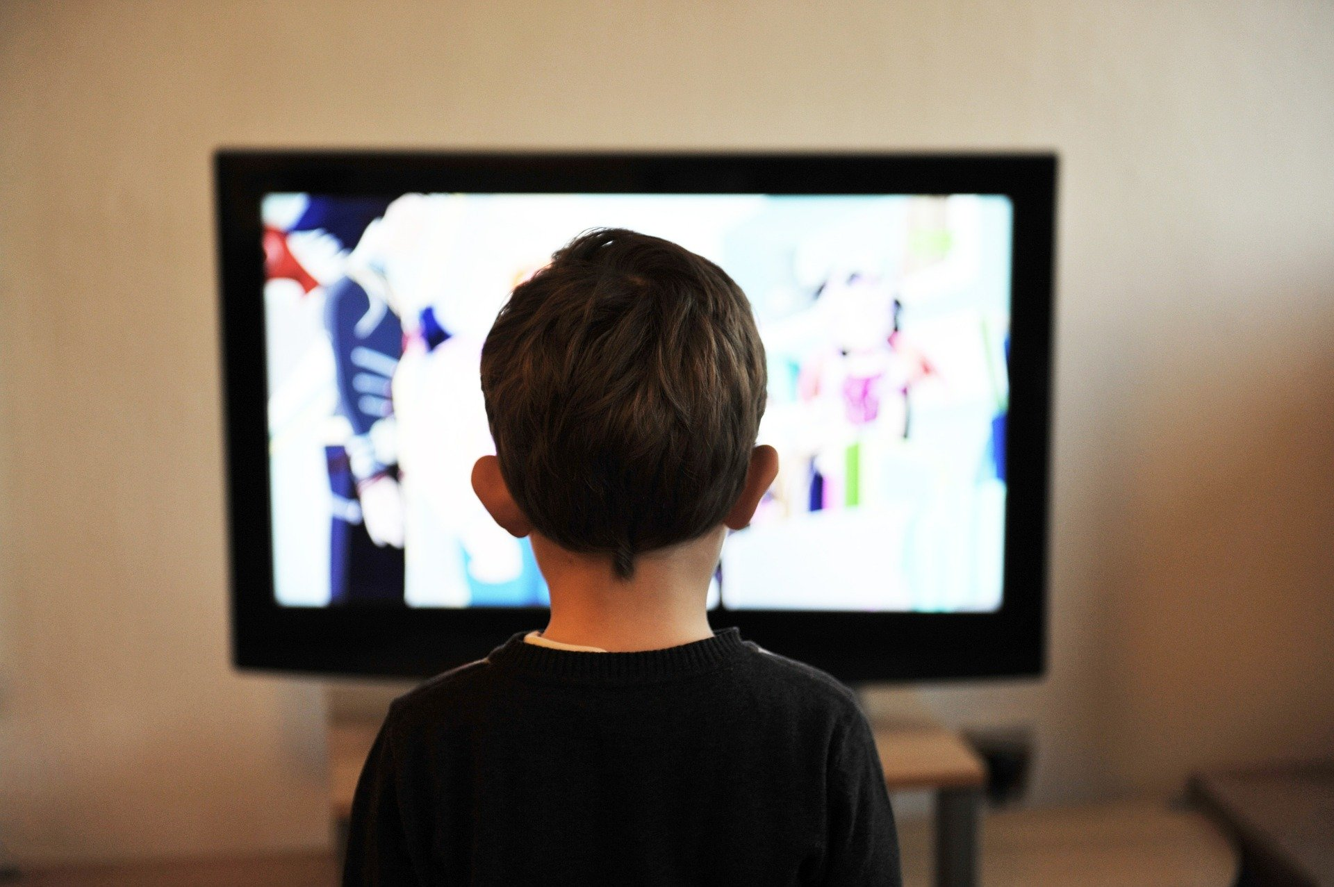 TV child watching image