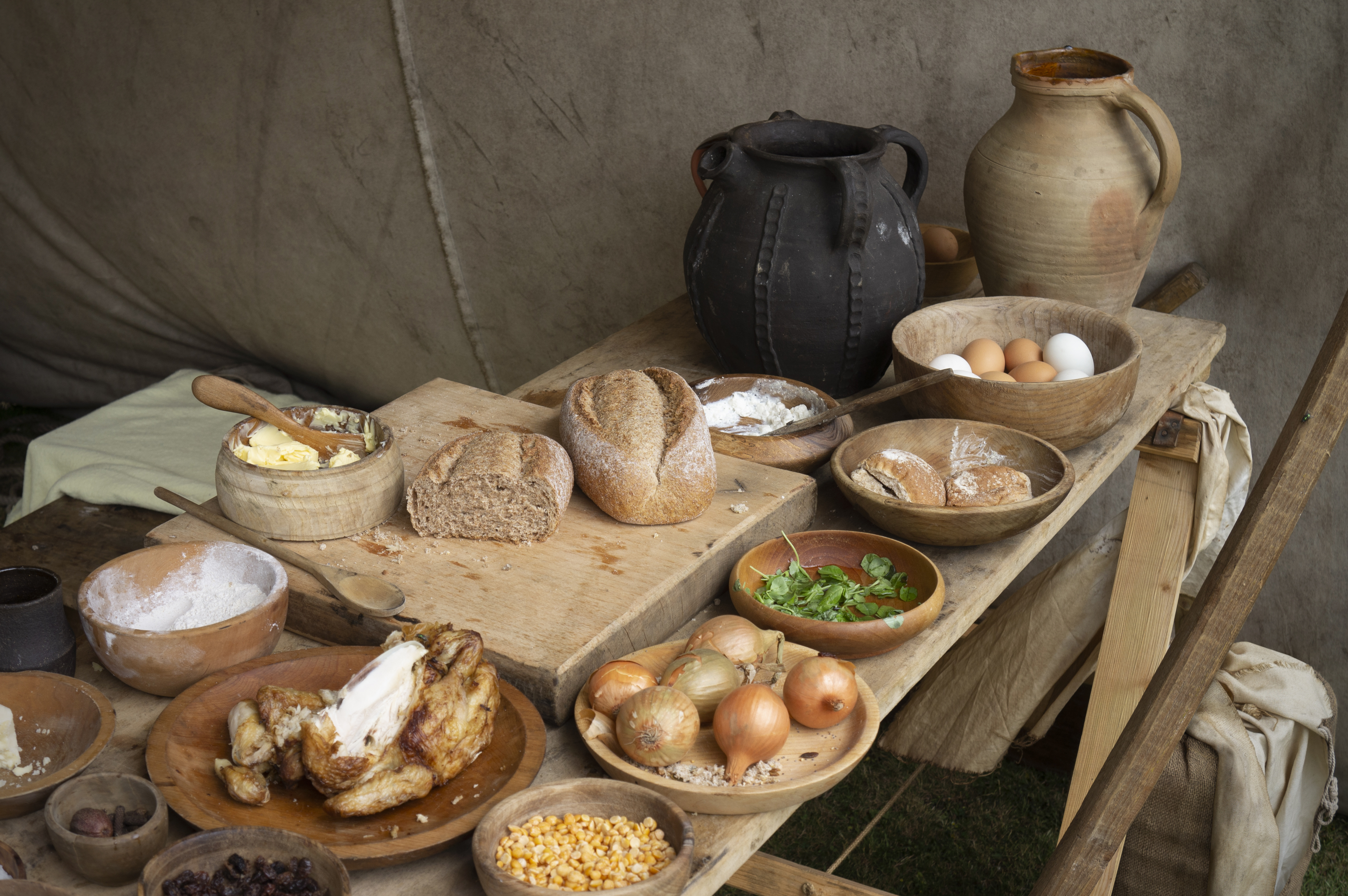 An early medieval feast.