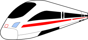 Train bullet clip art image